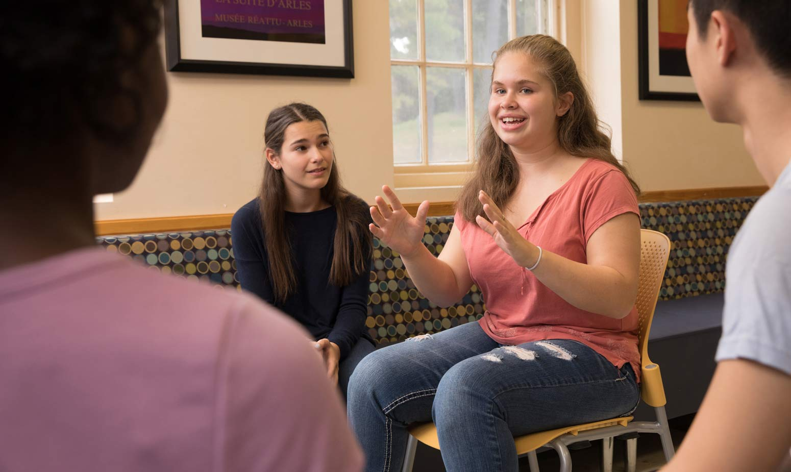 Teens in group therapy