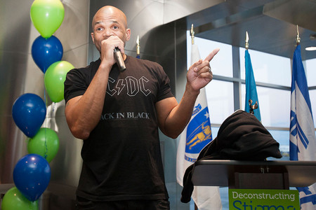 Darryl McDaniels at the opening of Deconstructing Stigma