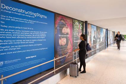 Deconstructing Stigma exhibit at Boston Logan airport