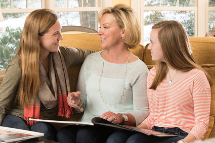 Kris Trustey with her daughters