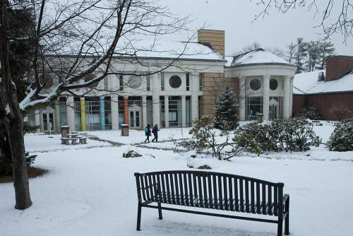 Admission Building in snow