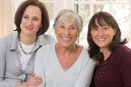 Betty Brudnick with her daughters