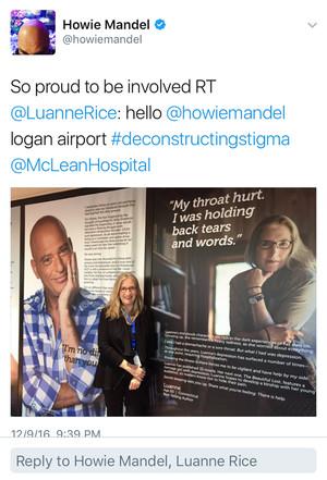 Howie Mandel retweets Luanne Rice