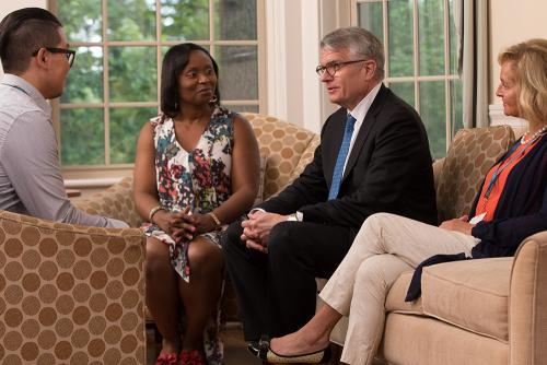 McLean clinicians talk with patient