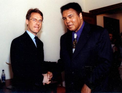 Dr. Ole Isacson and Muhammed Ali