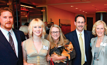 Glenn close and family with Dr. Scott Rauch