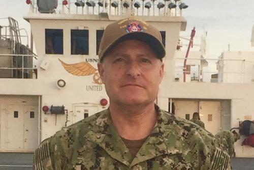 Dr. Joel Solomon aboard the USNS Comfort