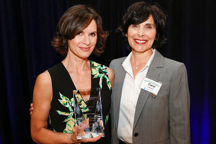 Elizabeth Vargas with Carol Vallone
