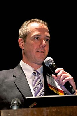 Christopher M. Palmer, MD, speaking at a CE conference
