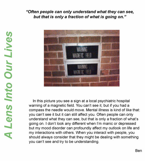 A Waverley Place member's PhotoVoice piece