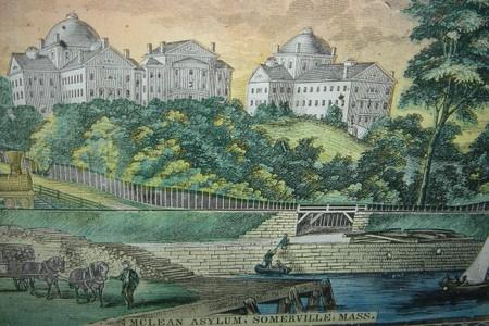 The old McLean Asylum in Charlestown, mid-1800s