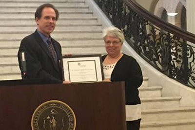 Mary Beth Traynor honored at Massachusetts State House