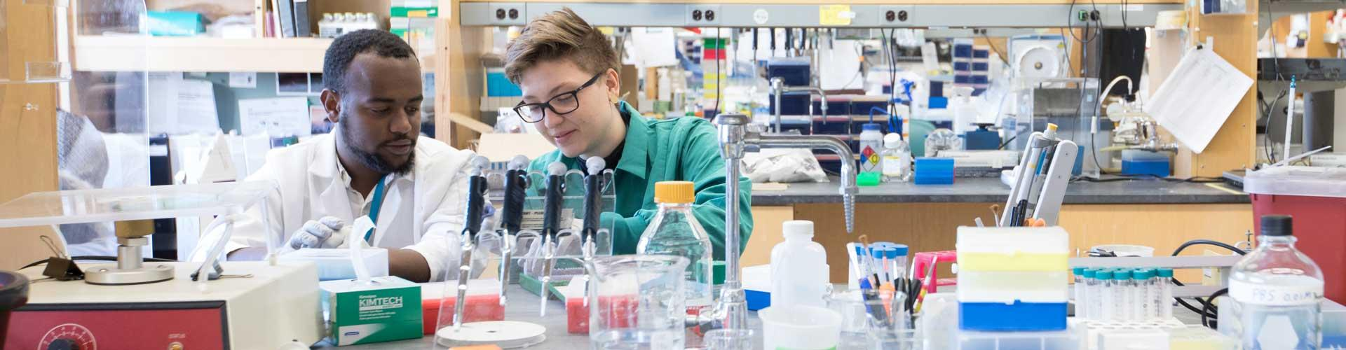 Young scientists in a research lab