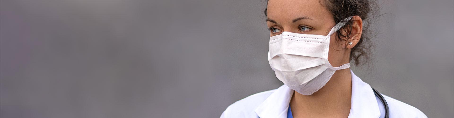 Female doctor in mask