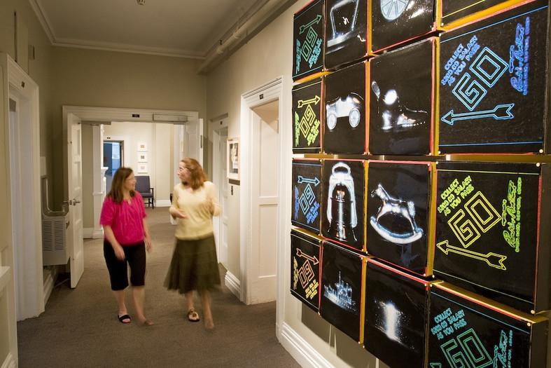 McLean Appleton art hallway