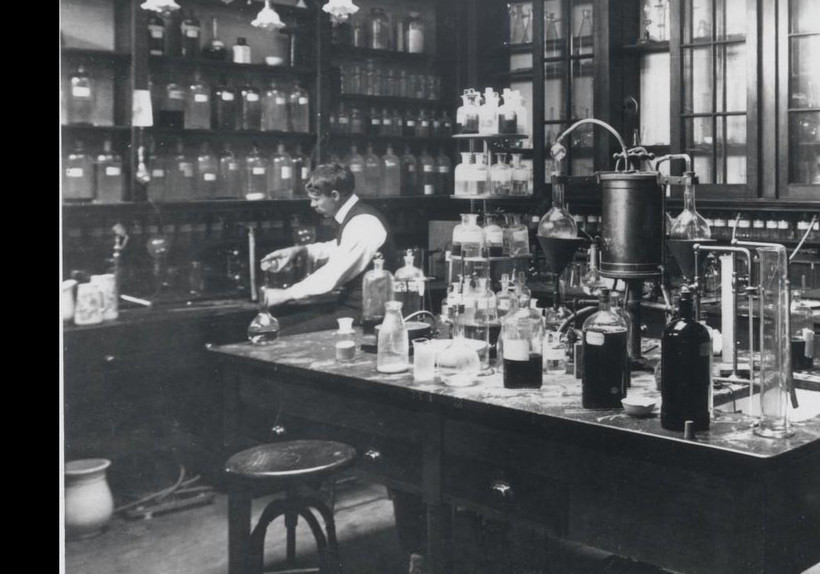 historical photo of lab